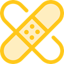 Plaster, band-aid, Wound, Sticking, medical, Sticking-plaster, Healthcare And Medical Gold icon
