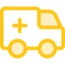 medical, transportation, transport, vehicle, Ambulance, emergency, Automobile, Healthcare And Medical Gold icon