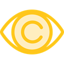 view, medical, interface, Eye, visible, Visibility, Healthcare And Medical Gold icon