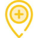 map pointer, Maps And Flags, Map Location, Map Point, Maps And Location, Healthcare And Medical, pin, placeholder, signs Gold icon