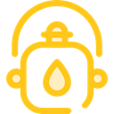 thirst, canteen, Tools And Utensils, Food And Restaurant, flask, water, Bottle Gold icon