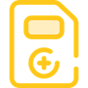 files, hospital, Medical Result, Healthcare And Medical, documents, medical, notepad Gold icon