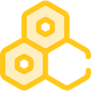 medical, education, Cells, Biology, Hexagon, Healthcare And Medical Gold icon