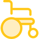 Healthcare And Medical, wheelchair, Disabled, transport, handicap Gold icon