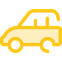 Automobile, Car, transportation, transport, vehicle Gold icon