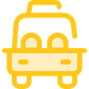 Car, transportation, transport, vehicle, taxi, Automobile Gold icon