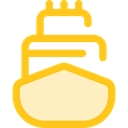 transport, ship, Cargo Ship, Shipping And Delivery, Shipping, navigation, transportation, Boat Gold icon