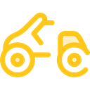 Motorbike, Motorcycle, Scooter, transportation, transport Gold icon