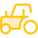 engine, transportation, transport, vehicle, tractor, Farm, Automobile Gold icon