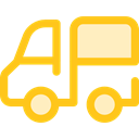 transport, vehicle, Automobile, Delivery Truck, Cargo Truck, Delivery, transportation, truck Gold icon