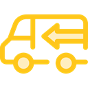 Delivery Truck, Cargo Truck, Shipping And Delivery, truck, transport, vehicle, Automobile, Delivery, transportation Gold icon