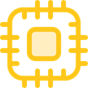 Chip, processor, Cpu, technology, electronic, electronics Gold icon