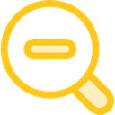 search, magnifying glass, zoom, detective, Loupe, Zoom out, Tools And Utensils, Edit Tools Gold icon