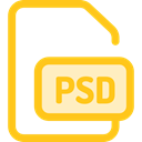 Design, Psd, Psd File, Files And Folders, document, Multimedia, image, Archive Gold icon