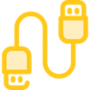 Usb, Cable, Connection, technology, port, electronics, Usb Cable Gold icon