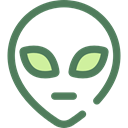 Alien, space, galaxy, extraterrestrial, people, user, Ufo, Avatar DimGray icon