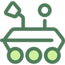 science, transportation, transport, vehicle, Automobile, Moon Rover DimGray icon