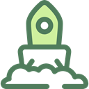 Space Ship Launch, Rocket Launch, transportation, transport, Space Ship, Rocket Ship, Rocket DimGray icon