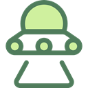 Ufo, spaceship, transportation, Alien, transport, extraterrestrial, Science Fiction DimGray icon