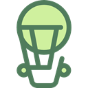transportation, travel, transport, flight, Air balloon, hot air balloon DimGray icon
