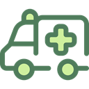 medical, transportation, transport, vehicle, Ambulance, emergency, Automobile DimGray icon