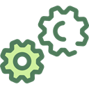 Tools And Utensils, Gear, settings, configuration, ui, cogwheel DimGray icon
