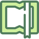 Book, Library, education, reader, reading, leisure, open book, School Material DimGray icon