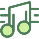 music, interface, music player, song, music note, musical note, Quaver, Music And Multimedia DimGray icon