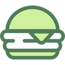 food, Fast food, junk food, sandwich, Burger, hamburger, Food And Restaurant DimGray icon