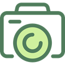 photo camera, digital, technology, electronics, photograph, picture, interface DimGray icon