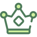miscellaneous, king, crown, Queen, Royalty, Chess Piece DimGray icon
