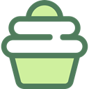 Dessert, sweet, Bakery, baked, Food And Restaurant, food, cupcake, muffin DimGray icon
