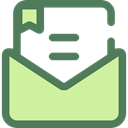 Message, mail, Letter, Note, Communications, Email, envelope DimGray icon
