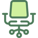 miscellaneous, Seat, Chair, buildings, sitting, Desk Chair, Furniture And Household DimGray icon