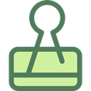 School Material, Office Material, miscellaneous, Attachment, Paperclip, Clips, Tools And Utensils DimGray icon