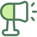 megaphone, loudspeaker, shout, protest, Communications, announcer, Tools And Utensils DimGray icon