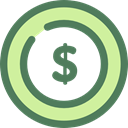 Business, Money, coin, Cash, Dollar, Currency, Business And Finance DimGray icon