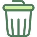 Garbage, Can, Tools And Utensils, interface, Basket, Bin, miscellaneous, Trash DimGray icon