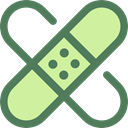 medical, Plaster, band-aid, Wound, Sticking, Sticking-plaster, Healthcare And Medical DimGray icon