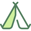 nature, Camping, Forest, Tent, Holidays, woods, rural Black icon