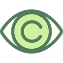 view, medical, interface, Eye, visible, Visibility, Healthcare And Medical DimGray icon