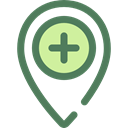 pin, placeholder, signs, map pointer, Maps And Flags, Map Location, Map Point, Maps And Location, Healthcare And Medical DimGray icon