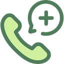 telephone, phone receiver, phone call, Emergency Call, Healthcare And Medical DimGray icon