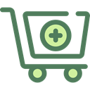 shopping cart, Supermarket, online store, Shopping Store, Commerce And Shopping, commerce DimGray icon