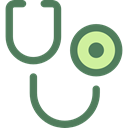 doctor, health, medical, stethoscope, Phonendoscope, Healthcare And Medical Black icon
