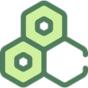 medical, education, Cells, Biology, Hexagon, Healthcare And Medical DimGray icon