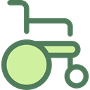 wheelchair, Disabled, transport, handicap, Healthcare And Medical DimGray icon