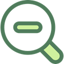 Zoom out, Tools And Utensils, Edit Tools, search, magnifying glass, zoom, detective, Loupe DimGray icon