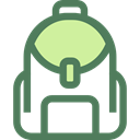 education, travel, Backpack, luggage, baggage, Bags DimGray icon