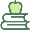 study, stacked, Educative, Apple, Book, Books, stack, education, Stacks DimGray icon